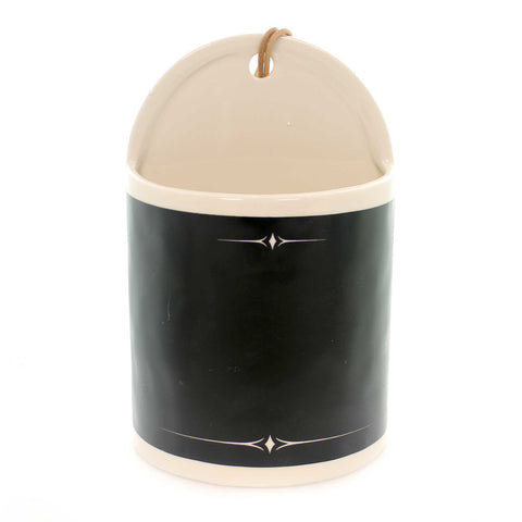 Home Decor CHALKBOARD WIDE CERAMIC CROCK Ceramic Organize 1004180314 37922