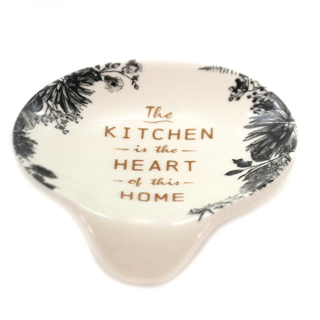 Tabletop THE KITCHEN IS HEART OF HOME Spoonrest Kitchen Cooking 1004180302
