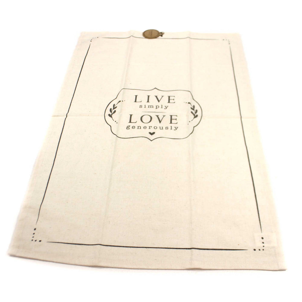 Tabletop LIVE SIMPLY TEA TOWEL Fabric Cotton Linen 1004180293