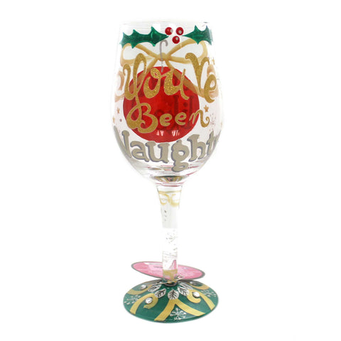 Tabletop NAUGHTY X-MAS Glass Love My Wine Glass 6000221 37947