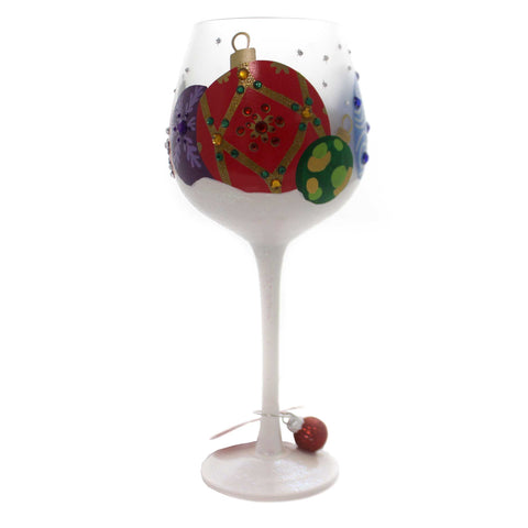 Tabletop ORNAMENTS IN THE SNOW Glass Christmas Wine Glass 6000217 37951