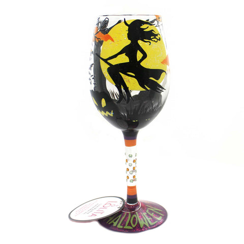 Tabletop FAB BOO LOUS HALLOWEEN Glass Love My Wine Glass 6000216 37953