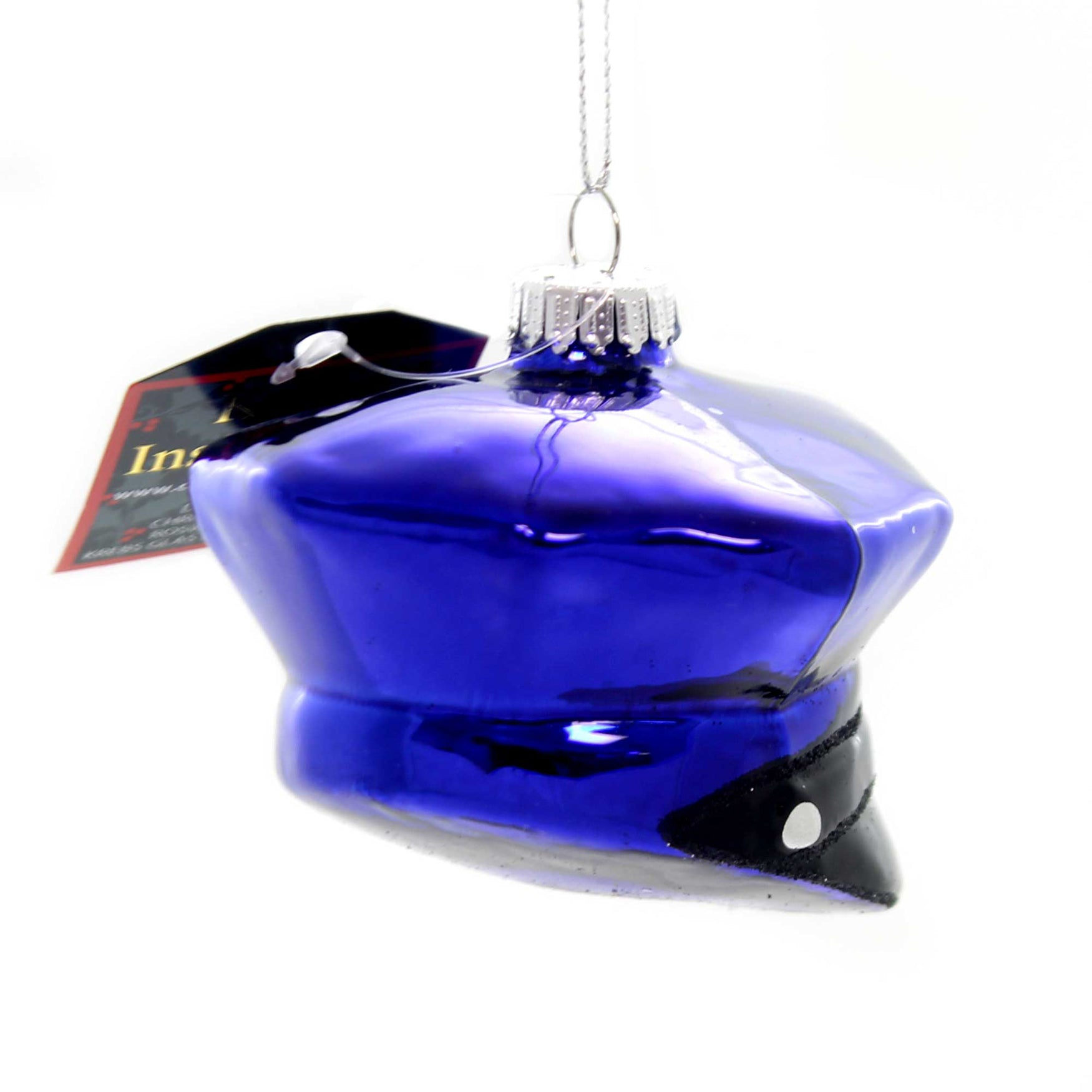 Police Christmas Ornaments.Holiday Ornaments Police Officer Hat Glass Law Enforcement 80016