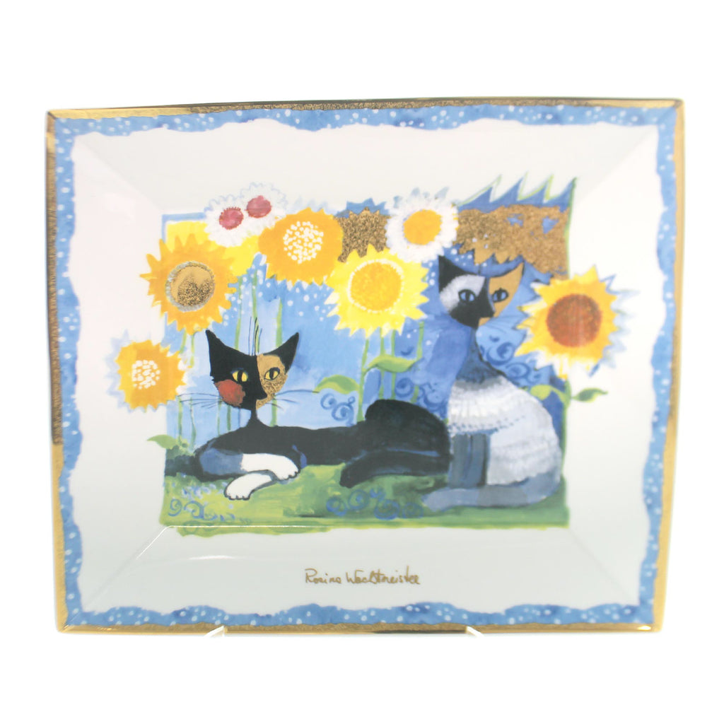 Home & Garden TWO CATS AND SUNFLOWER PLATE  Limited Edition 78021185