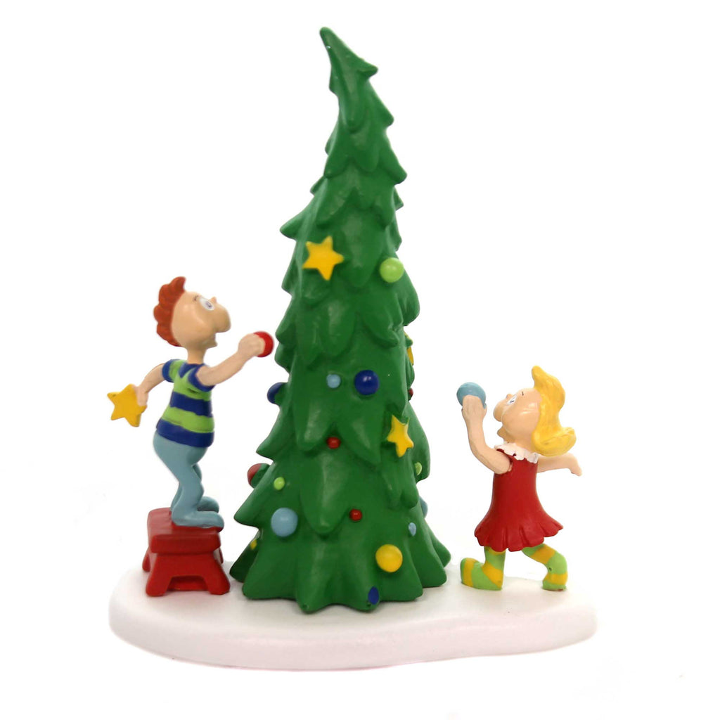 Department 56 Accessory WHO-VILLE CHRISTMAS TREE Dr Seuss Grinch Kid Decorating 4059423