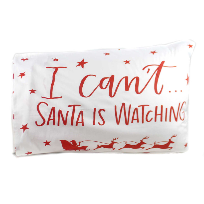 Christmas SANTA'S WATCHING PILLOW CASE Fabric Cotton Sateen 39812