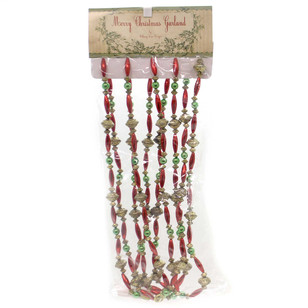 Christmas TRADITIONAL ANTIQUE BEAD GARLAND Plastic Vintage Sn6813