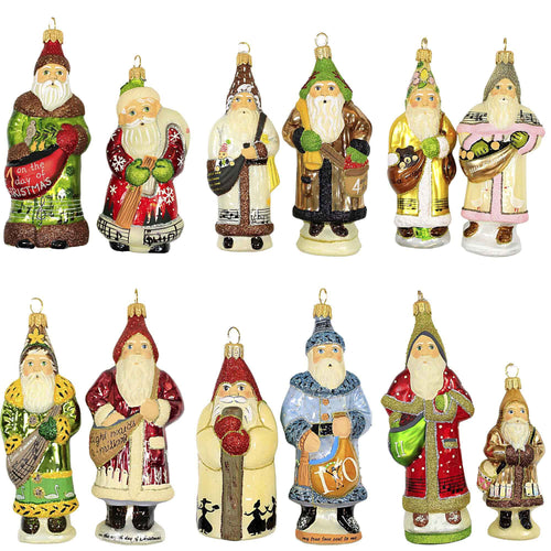 Vaillancourt GLIMMER TWELVE DAYS OF CHRISTMAS Glass Polish Blown Glass Ortdgb