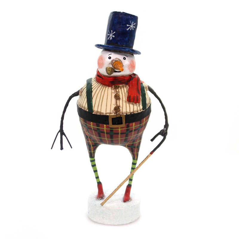 Lori Mitchell GOOD TIDINGS SNOWMAN Polyresin Christmas Pipe Carrot Nose 11109