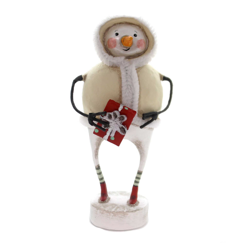 Lori Mitchell THE GIFT OF GIVING Polyresin Snowman Christmas Present 11118