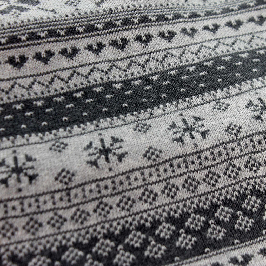 Apparel GREY PATTERN SCARF Cotton Snowflakes 144462