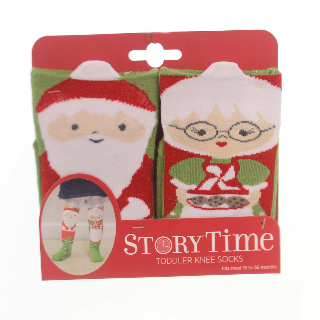 Novelty Socks SANTA & MRS CLAUS TODDLER KNEE SOCKS Non Skid Sole.2 5004700507