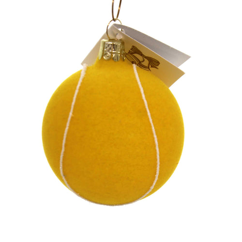 Golden Bell Collection FELT LOOKING TENNIS BALL Ornament Czech Sport Nv526
