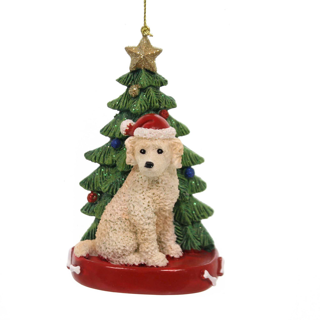 Holiday Ornaments Dog W/Christmas Tree C7615 Labradoodle A ...