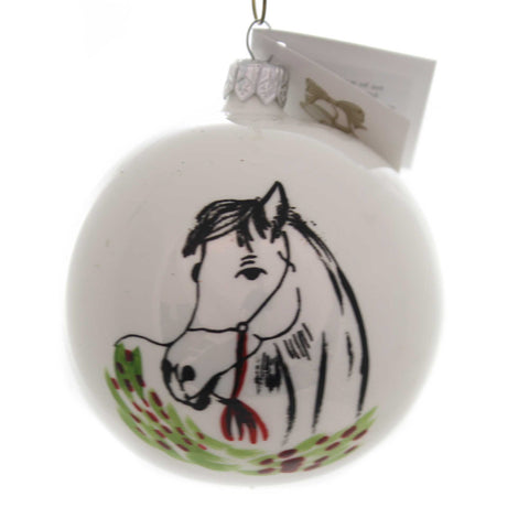 Golden Bell Collection HORSE IN FIELD Glass Christmas Ornament Ball Bmb185 38567