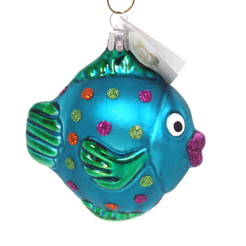 Golden Bell Collection TROPICAL FISH Glass Christmas Ornament An489 38572
