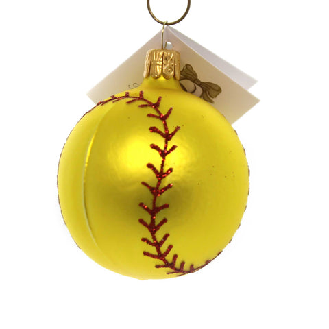 Golden Bell Collection SOFTBALL Glass Hand Painted Nv500 38585