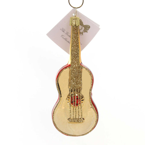 Golden Bell Collection RED GUITAR Glass Hand Painted Nvv116 38591