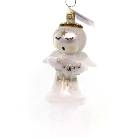 Golden Bell Collection SINGING ANGEL Glass Hand Painted Nvv110 38599