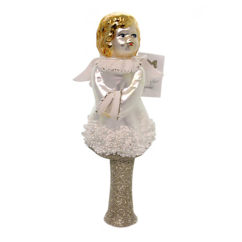 Golden Bell Collection ANGEL TREE TOPPER Glass Hand Painted Tt468 38610