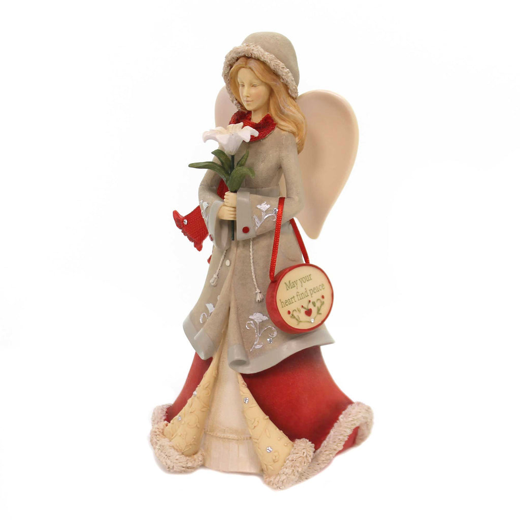 Christmas MAY YOUR HEART FIND PEACE Polyresin Angel 6001399