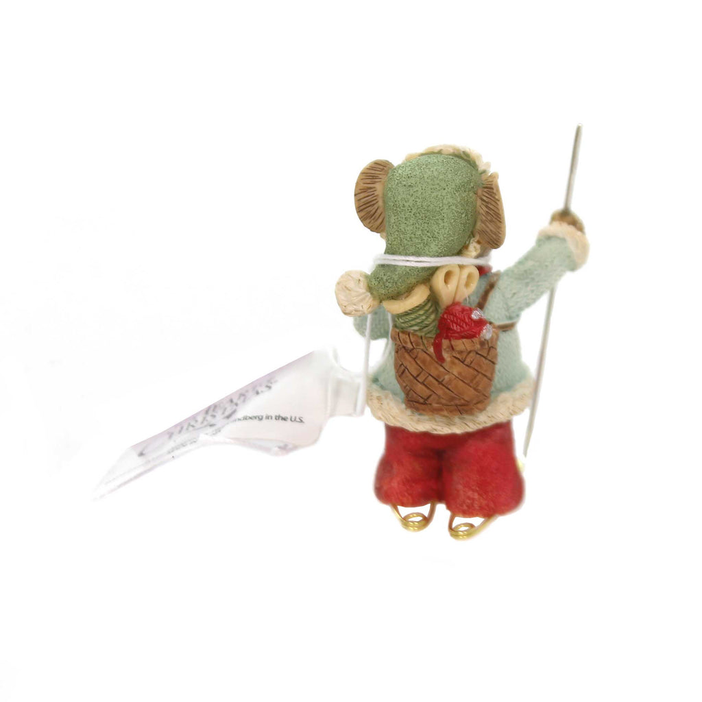 Christmas SNOWSHOE SCAMPER Polyresin Holiday 6001388