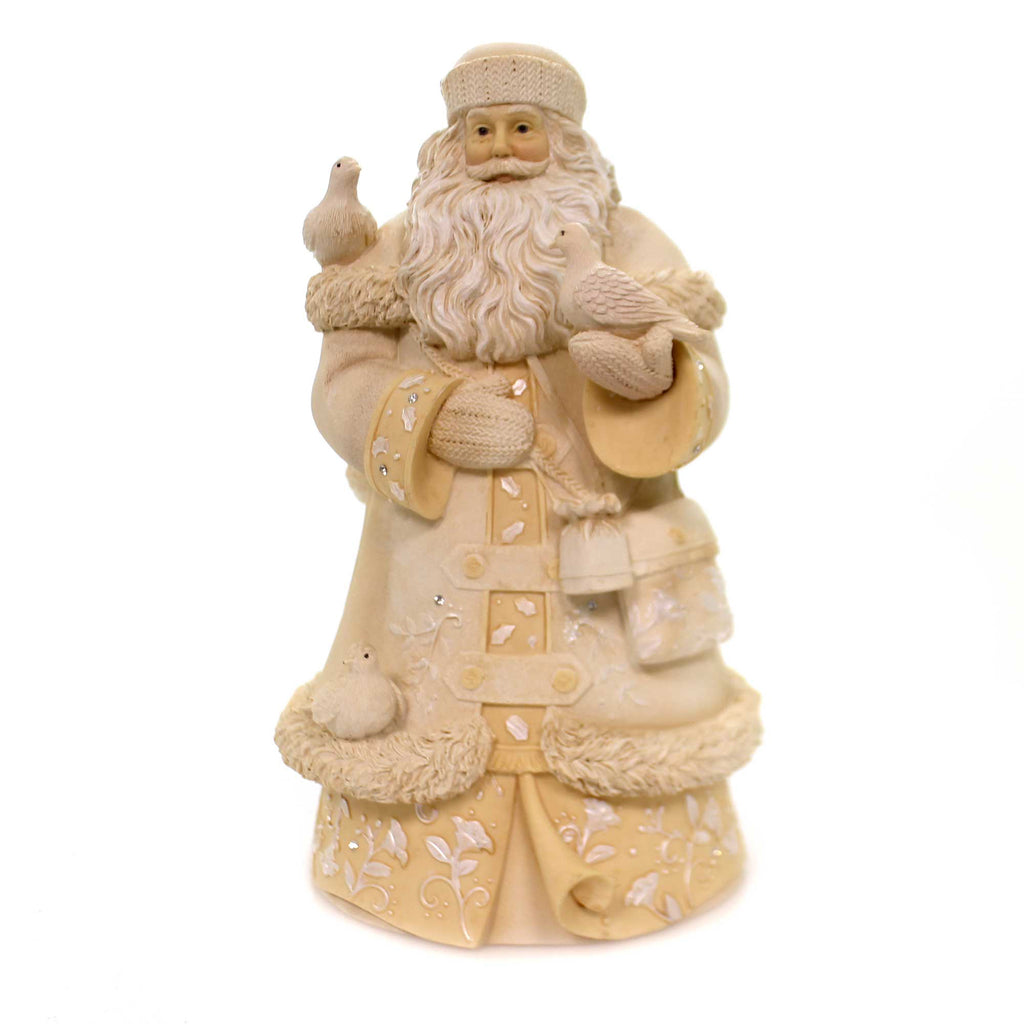 Christmas PEACE ON EARTH & GOODWILL TO ALL Polyresin Santa 6001376