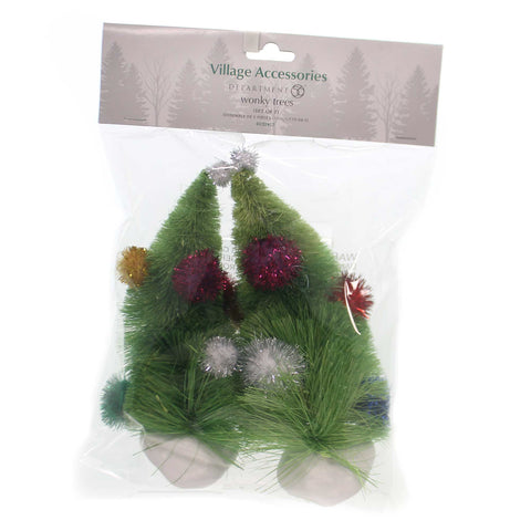 Department 56 Accessory WONKY TREES Plastic The Grinch 4032417 38658