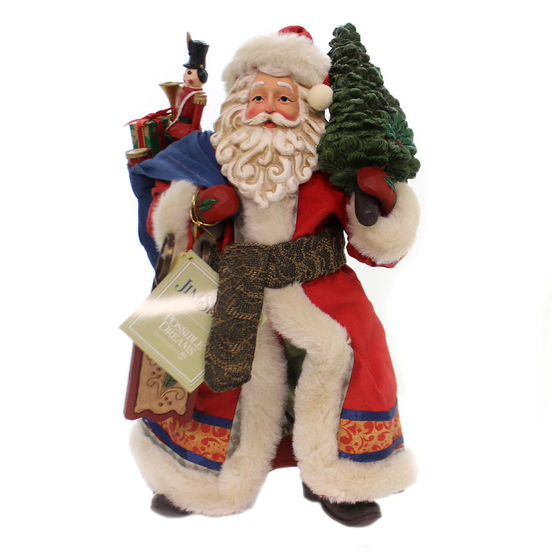 Jim Shore LIMITED EDITION SANTA Polyresin Santa Clothtique 6001340