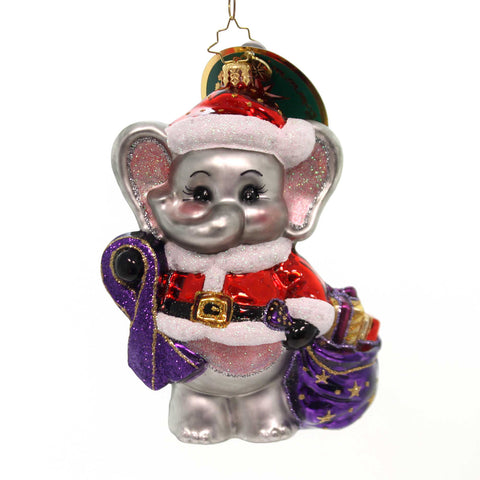 Christopher Radko HERE TO CHEER Blown Glass Ornament Ltd Ed Aids 2007 Santa