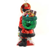 Christopher Radko CHILLY CHIMNEY CHAP Glass Santa Claus Ornament 1019394