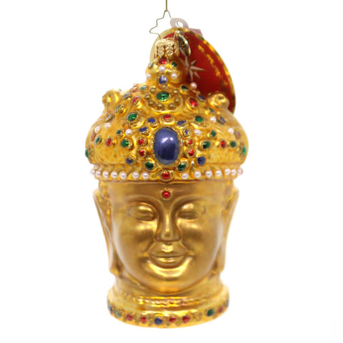 Christopher Radko EN-CHANTING BUDDHA Glass Enlightened Teacher Ornament 1019552 38687