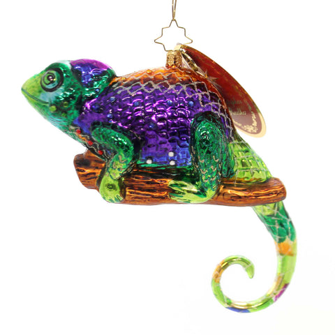 Christopher Radko A COLORFUL PERSONALITY Glass Reptile 1019384 38695