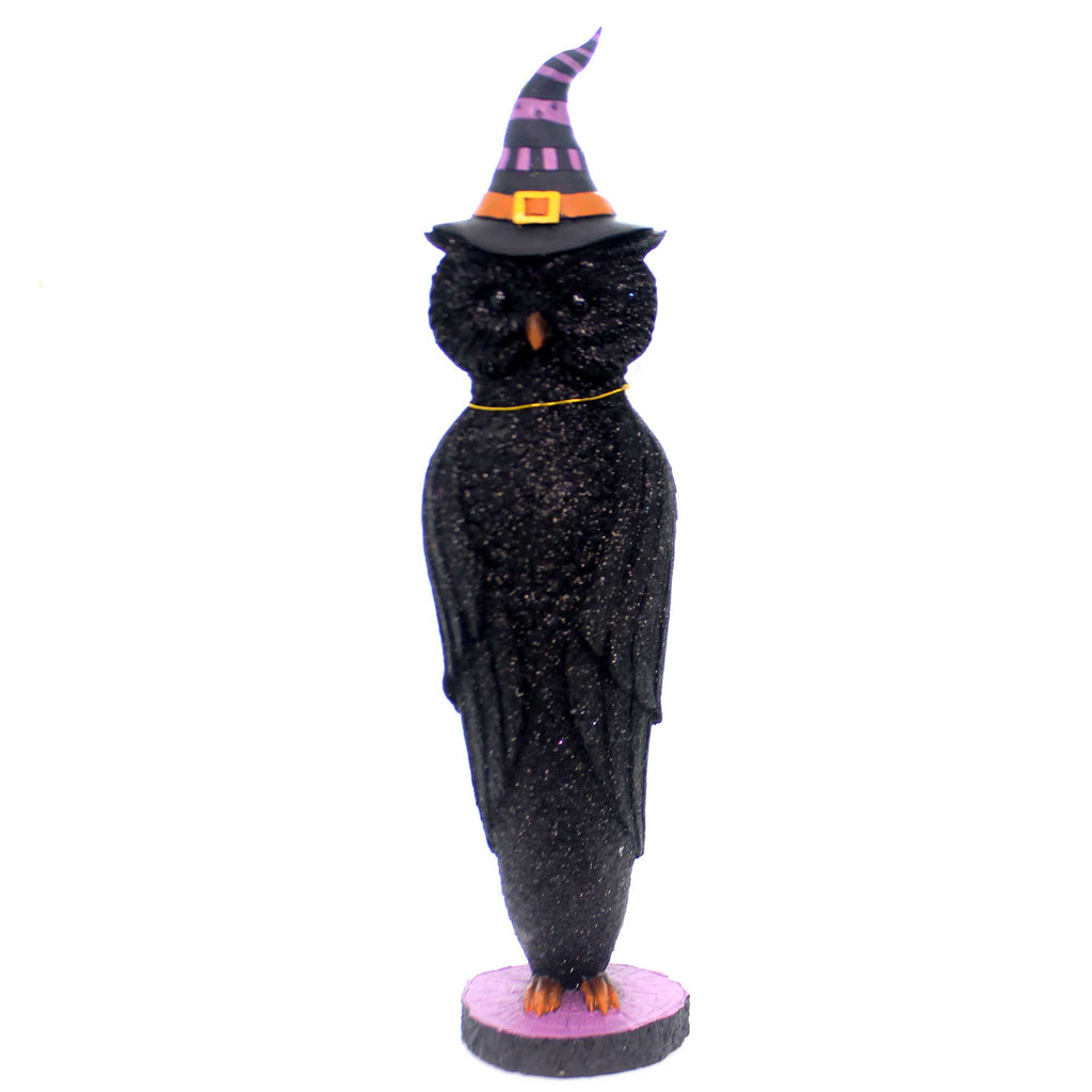 Halloween HALLOWEEN OWL Polyresin Witches Hat Bird Wisdom 2981752