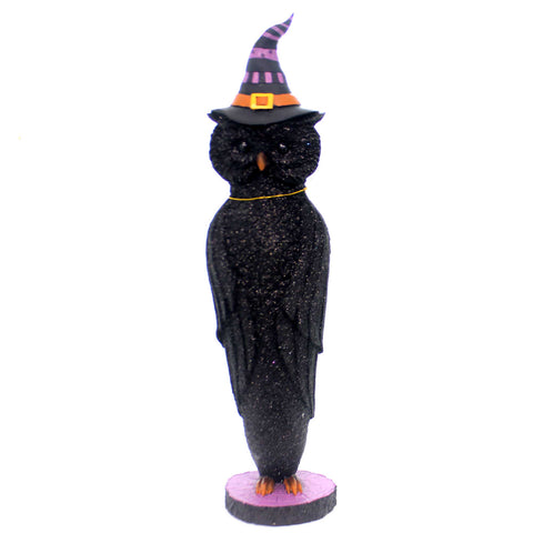 Halloween HALLOWEEN OWL Polyresin Witches Hat Bird Wisdom 2981752 38779