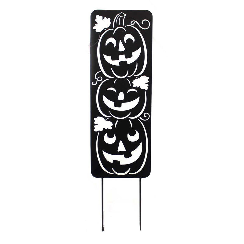 Home & Garden JACK-O-LANTERN METAL PANEL Metal Pumpkins Smile 44607