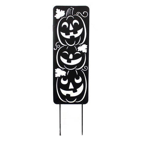 Home & Garden JACK-O-LANTERN METAL PANEL Metal Pumpkins Smile 44607 38815