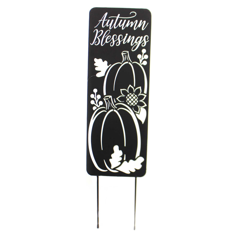 Home & Garden AUTUMN BLESSINGS METAL PANEL Metal Fall Pumpkins 44603