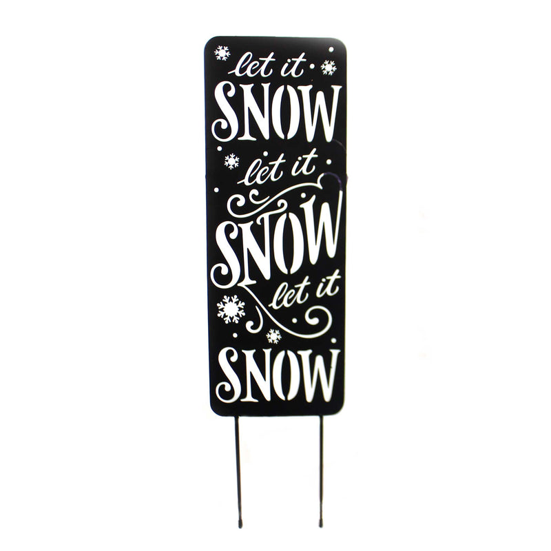 Home & Garden LET IT SNOW YARD PANEL Metal Winter 44602