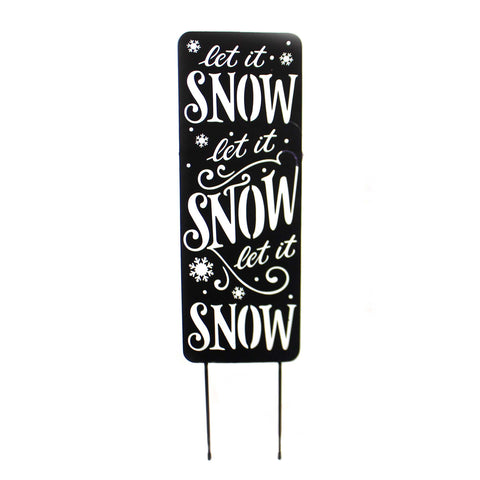 Home & Garden LET IT SNOW YARD PANEL Metal Winter 44602 38817