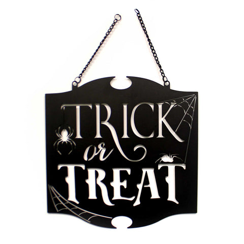 Home & Garden TRICK  TREAT METAL GARDEN FLAG Metal Laser-Cut Metal 44050 38819