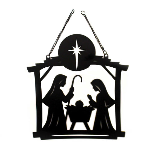 Home & Garden NATIVITY SCENE METAL GARDEN FLAG Metal Holy Family 44037 38820
