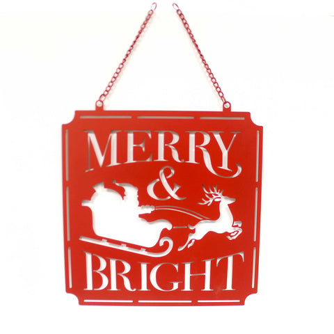 Home & Garden MERRY  BRIGHT METAL GARDEN FLAG Metal Christmas 44055 38821