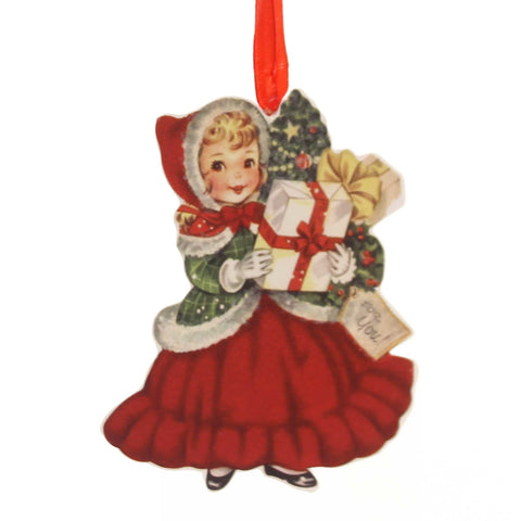 Holiday Ornaments RETRO CHRISTMAS DUMMY BOARD Reindeer Snowman Santa Rl6847 Girl 38831