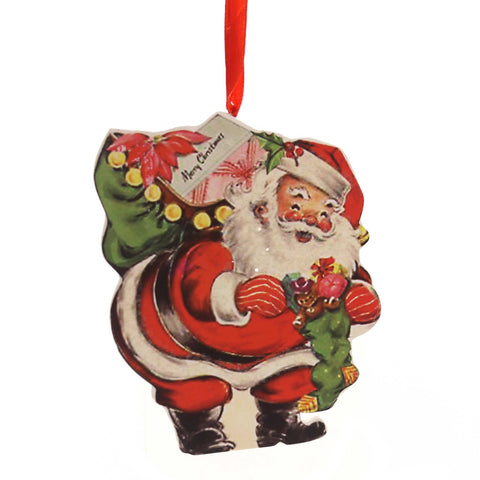 Holiday Ornaments RETRO CHRISTMAS DUMMY BOARD Reindeer Snowman Santa Rkl6847 Santa 38834