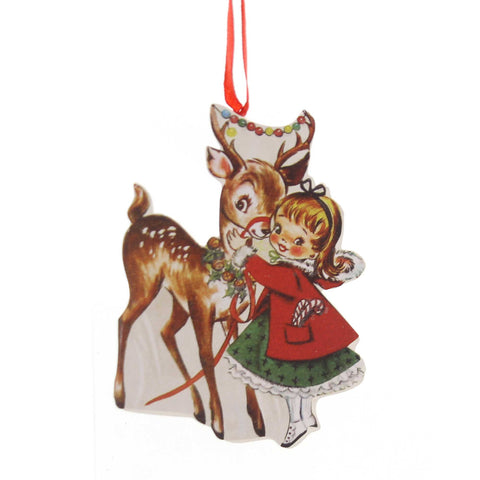 Holiday Ornaments RETRO CHRISTMAS DUMMY BOARD Reindeer Snowman Santa Rl6847 Reindeer 38835