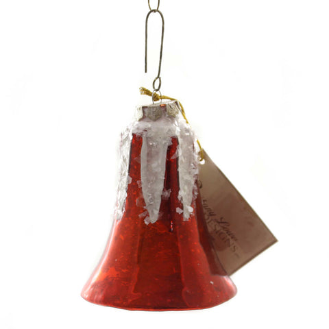 Holiday Ornaments BELL MERCURY LARGE GLASS Glass Vintage Style Sn7499 Red 38837