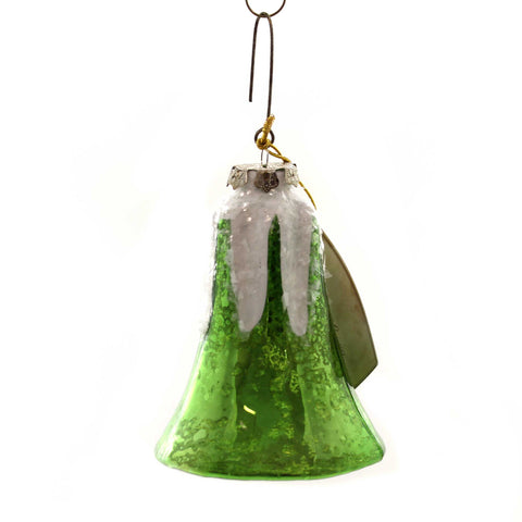 Holiday Ornaments BELL MERCURY LARGE GLASS Glass Vintage Style Sn7499 Green 38839