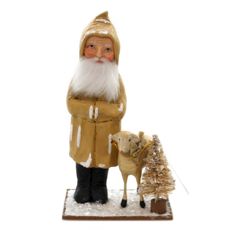 Christmas OLD FATHER CHRISTMAS WITH LAMB Polyresin Vintage Vs6992 38840