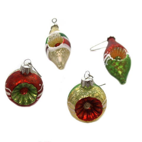 Holiday Ornaments TRADITONAL INDENT ORNAMENT Glass Vintage Style Sn7498 38843